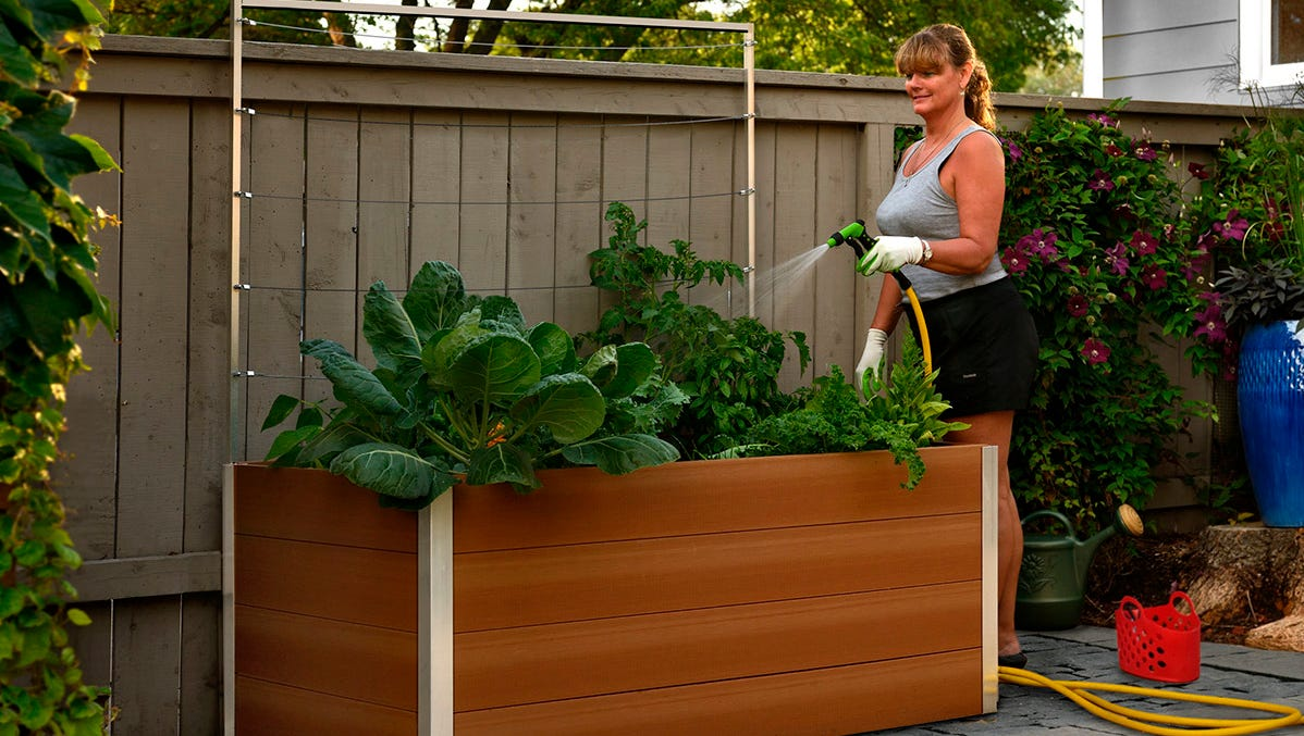 Keyhole gardens: a drought-friendly twist on raised beds