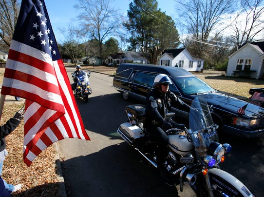AP Officer Shot Funeral