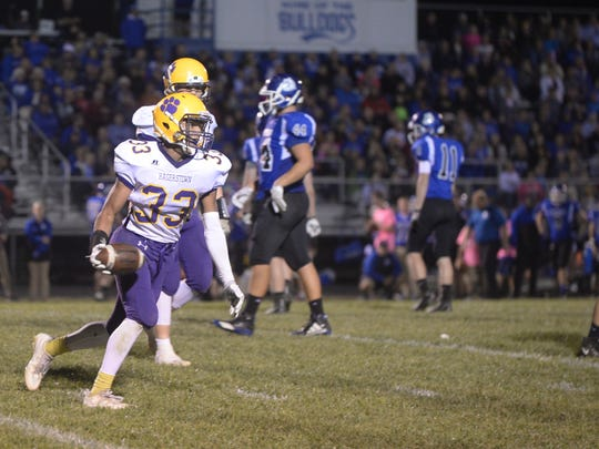 Hagerstown defeated Centerville 20-6 to remain undefeated