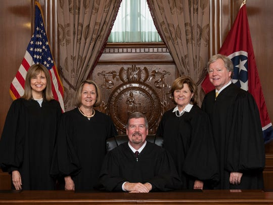 The Tennessee Supreme Court, from left to right: Justice