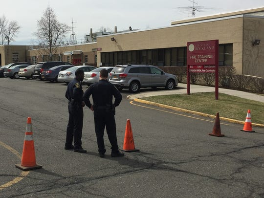 FBI agents mobilized Wednesday at the Rockland Fire