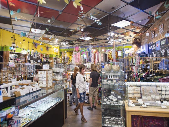 People browse for gifts and trinkets at Curiosities