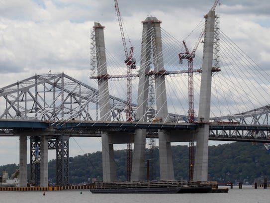 Construction continues on the new Tappan Zee Bridge