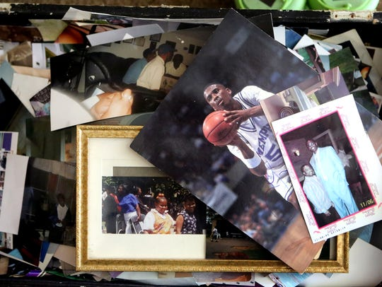 June 26, 2015 - A chest full of family photos many