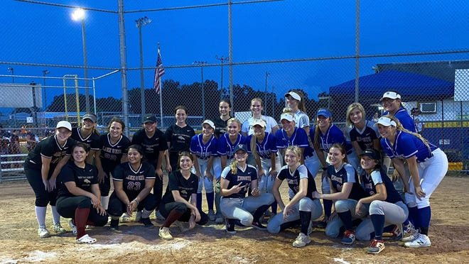 Marion County's senior softball players took the field one final time Wednesday night following the cancellation of the 2020 high school softball season due to COVID-19.