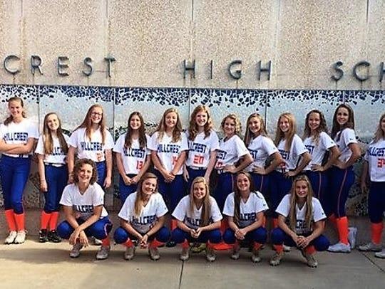 The Hillcrest High School softball team.