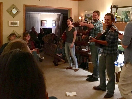 My Politic from Nashville, Tenn., performing a house