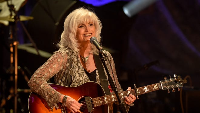 Emmylou Harris and the Nash Ramblers perform at the Ryman Auditorium in Nashville on May 2, 2017.