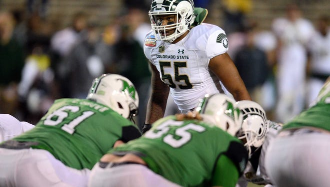 Middle linebacker Josh Watson is one of just eight returning starters on CSU's football team. The Rams are the least-experienced of the nation's 130 Football Bowl Subdivision teams entering 2018, according to national analyst Phil Steele.
