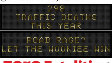 A screenshot of the Iowa DOT tweet highlighting its new roadside message, which it releases each Monday.