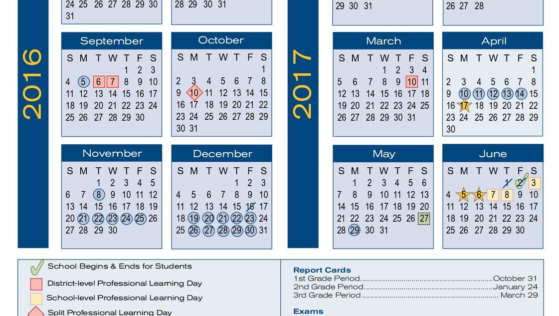 School Calendar 2016 17 : School board revises pickens county schools calendar for