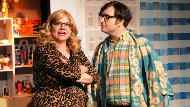 """Dyan Bailey and Scott Sanford in Planet Ant Theatre's """"Who Run the World."""""""