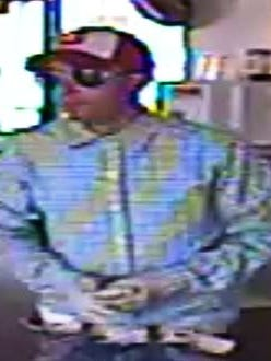 Surveillance photo of the suspect involved in the Wesbanco robbery
