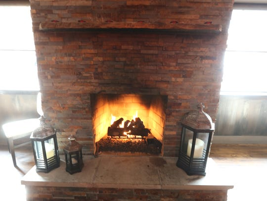 Fireplaces are found throughout City Grill, including