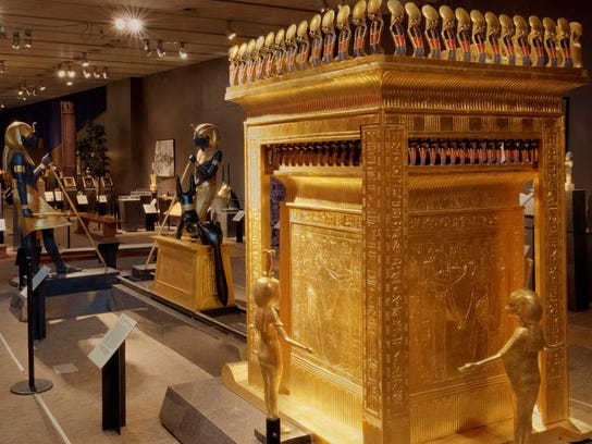 "The colorful ""Tutankhamun: 'Wonderful Things' from"