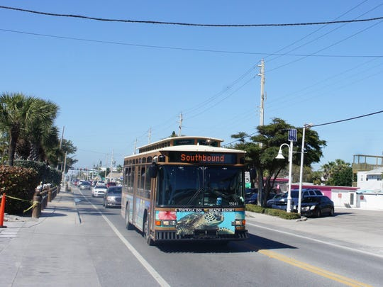 AMI Trolley ferries visitors up and down Gulf Drive