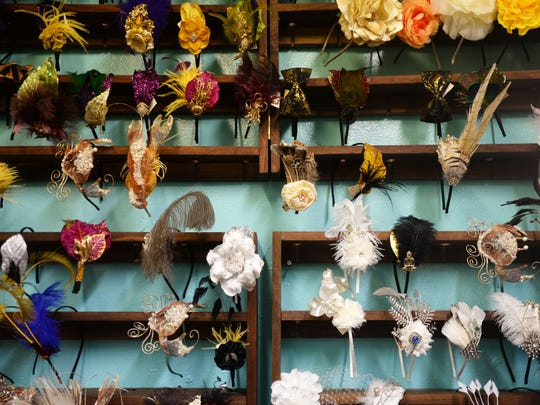 Kendall Morehart makes custom hair pieces that she sells in her store Fete la Femme.