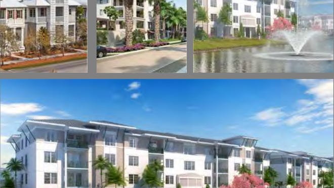 Stock Development shared renderings of the proposed Estero Crossing apartments at its Wednesday, May 24, Estero Village Council zoning hearing.