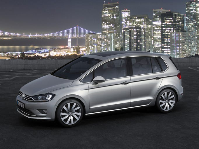 The Volkswagen Golf Sportsvan model unveiled this week at the ...