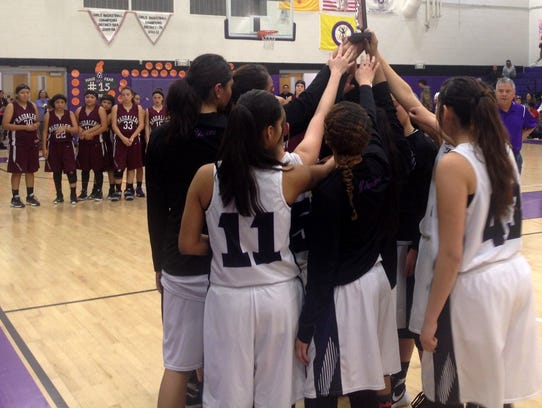 The Mescalero Apache Lady Chiefs were presented the
