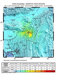 epa05087197 An intensity shake map released by the