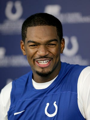 Indianapolis Colts new quarterback Jacoby Brissett talks to the media during a press conference at the Colts complex Monday, September 4, 2017.
