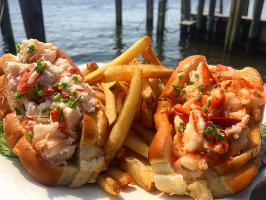 A pair of lobster rolls from Red's Lobster Pot in Point