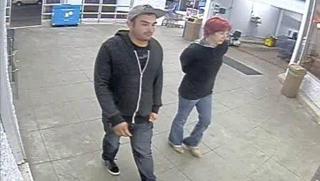 Surveillance footage of Ryan Allen Herbert, 22, and Cameo Alyss Lewis, 25.