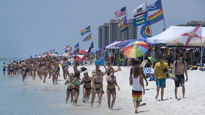 Pensacola Beach kicked off the summer tourism season in style on Memorial Day weekend in this file photo.