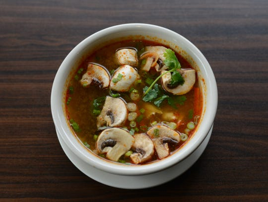 The Wyckoff Thai restaurant serves Tom Yum soup.