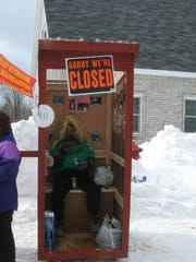 The Trenary Outhouse Classic in Trenary, Michigan,