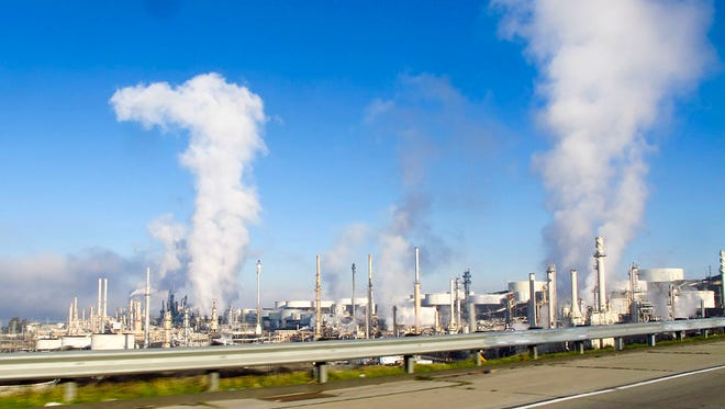 The Conoco refinery in the Bay Area town of Rodeo.