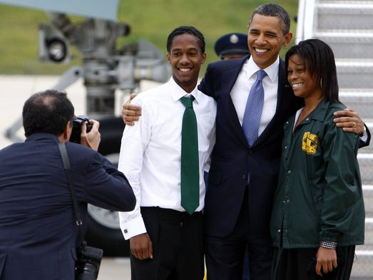 May 16, 2011 - Booker T. Washington seniors Christopher