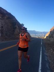 Melissa Schmidt runs through California as part of
