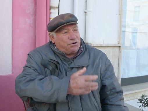 Salvatore Maggiore, 80, a retired fisherman of Lampedusa,