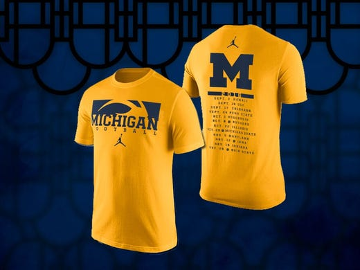 timeless design 20eb0 6b578 Amarillo and Blue? Nike unveils new Michigan apparel