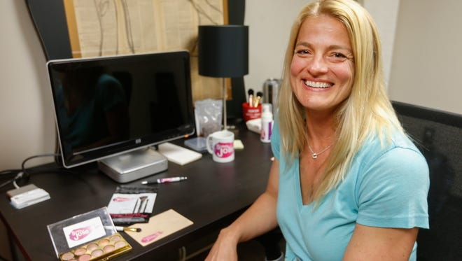 Amy Blansit, a founder of the Drew Lewis Foundation and the Northwest Project, both of which support the fight against poverty in northwest Springfield, also created a dry method for cleaning makeup brushes sold through a company called Solely Jolie.