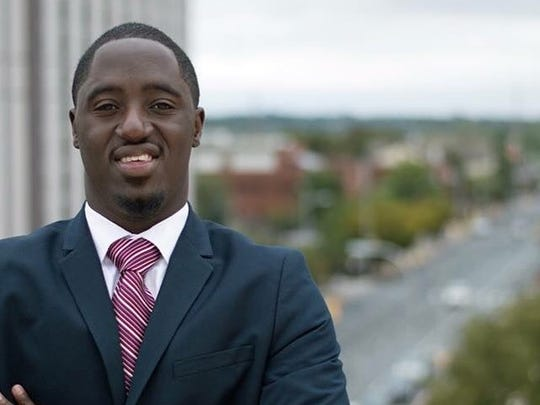Kelvin Lesene, a 23-year-old Delaware State University graduate who wants to make his charity a nonprofit in order to get more donations.