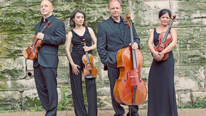 The Arianna String Quartet will perform Dec. 3 at Logan House in Ojai as part of the Chamber of the Mountain series. Pictured, from left, are John McGrosso, violin; Julia Sakharova, violin; Kurt Baldwin, cello; and Joanna Mendoza, viola.