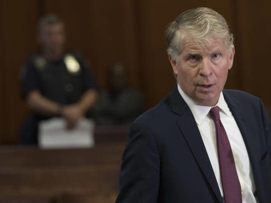 In this Sept. 12, 2018 file photo, Manhattan District Attorney, Cyrus Vance, Jr., speaks to reporters after a hearing in Manhattan criminal court in New York.