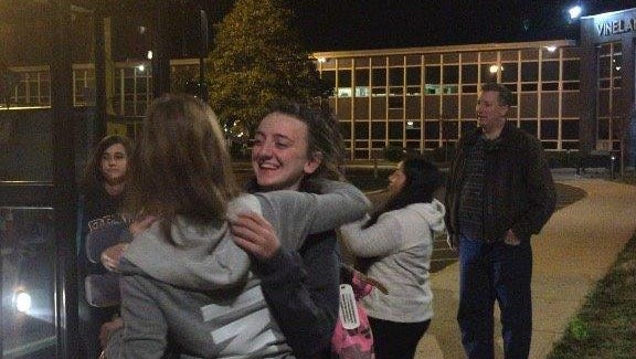 Vineland High School students were welcomed home early Thursday morning, returning from their spring break trip to France and Spain.