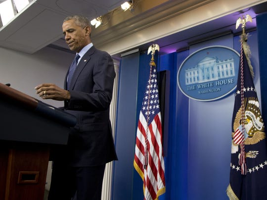 President Barack Obama speaks about the massacre at