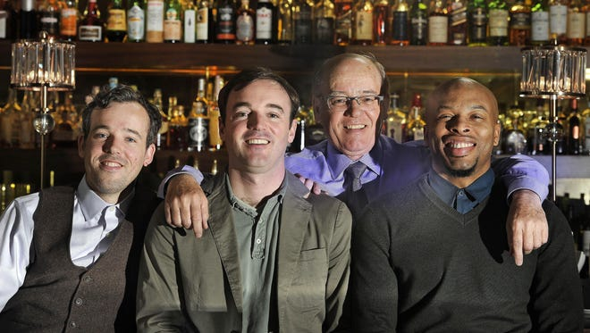 From left, Ed Reed, Sam Reed, Colin Reed and Q-Juan Taylor. Ed, Sam and Q-Juan run the restaurant Sinema in business with Colin, the president and CEO of Ryman Hospitality.