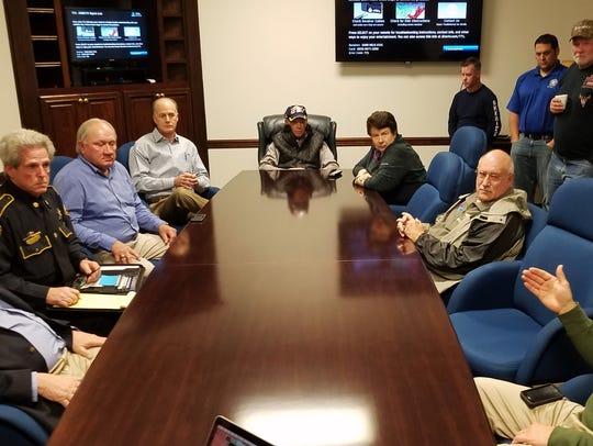 Bossier Sheriff Julian Whittington met with Bossier