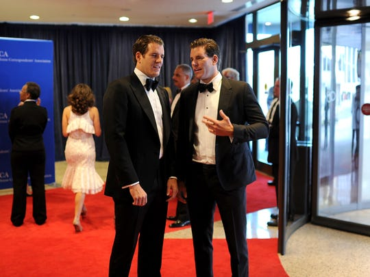 Cameron Winklevoss and Tyler Winklevoss attend the 100th Annual White House Correspondents' Association Dinner at the Washington Hilton on May 3, 2014, in Washington, D.C.