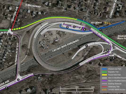 Exit 10 modifications in South Nyack