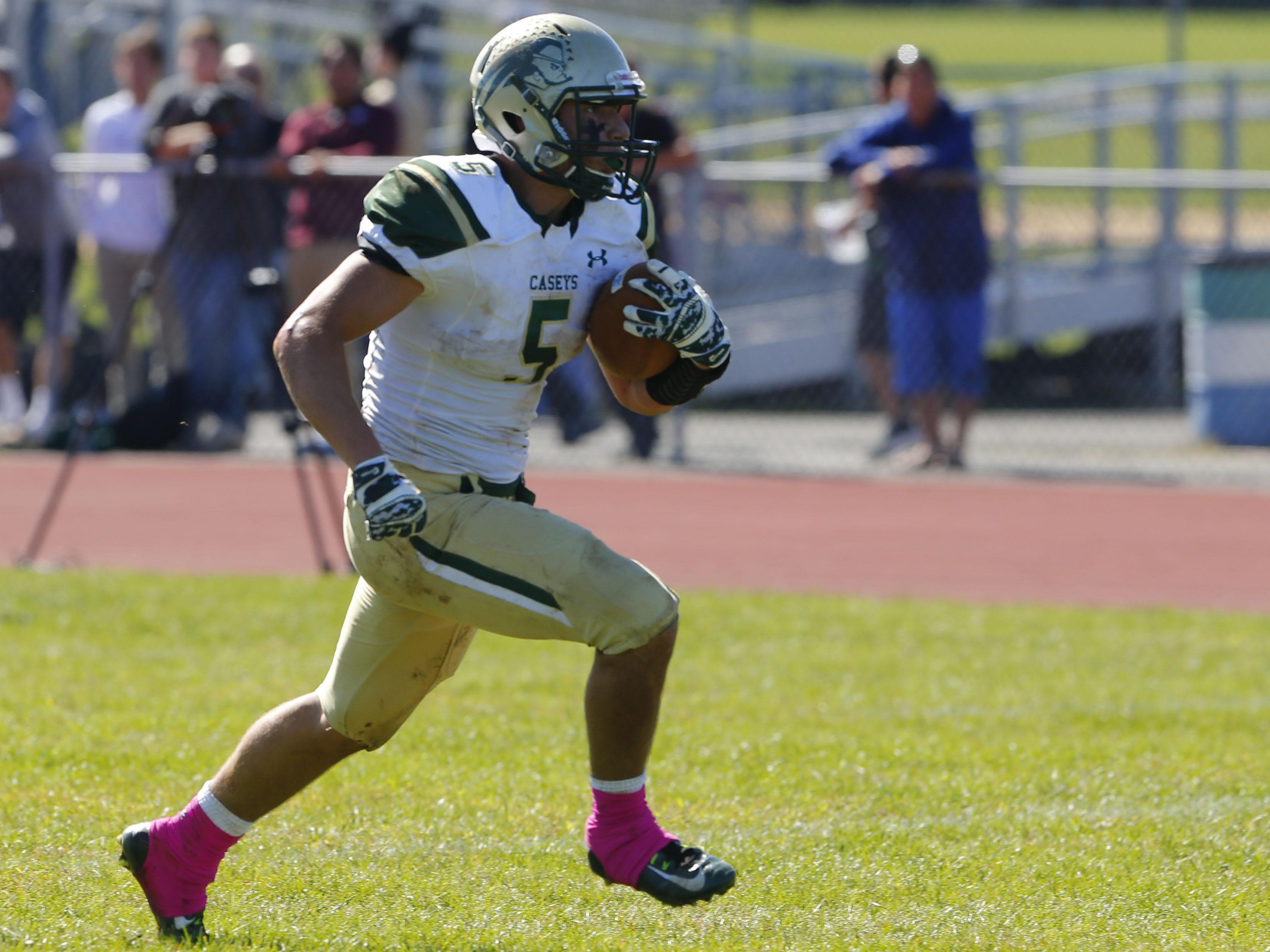 Michael Wilen (5) of Red Bank Catholic runs for a touchdown against Red Bank Catholic at Colts Neck High School, Colts Neck,NJ. Saturday, October 10, 2015.
