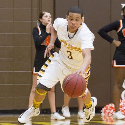 Kickapoo all-state basketball player and 2015 graduate Tyson Batiste.