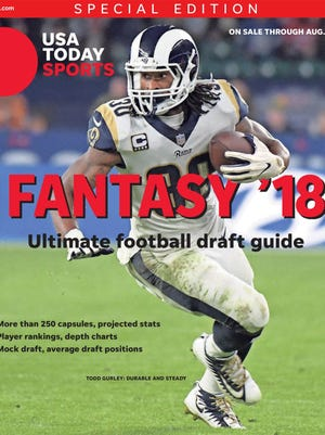 Rams running back Todd Gurley was fantasy's top performer last season -- and is No. 3 in our 2018 rankings.
