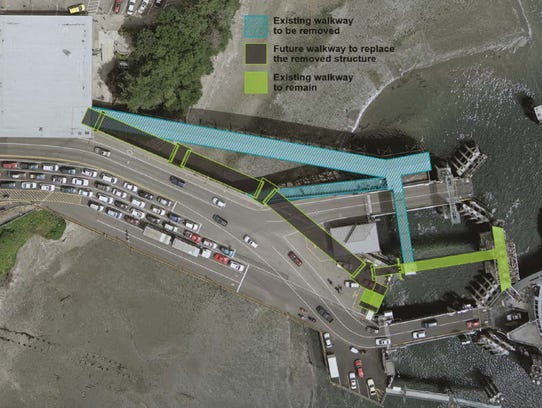 The new passenger ramp at WSF's Bainbridge Island terminal